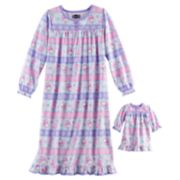 Girls 4-8 Peppa Pig & Suzy Sheep Night Gown & Doll Gown Set
