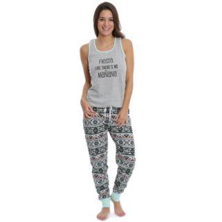 Juniors' Wallflower Pajamas: Tank & Jogger Pants PJ Set