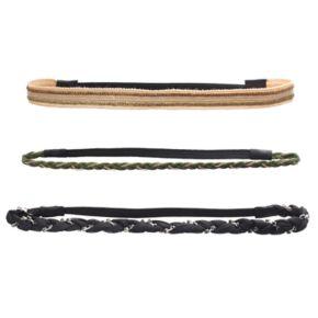 Mudd® Braided Chain Stretch Headband Set