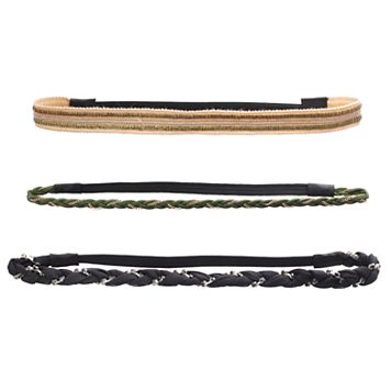Mudd® Braided Chain Stretch Headband Set