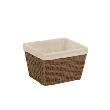 Honey-Can-Do Small Parchment Cord Lined Basket
