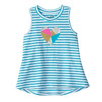 Toddler Girl Jumping Beans® Striped Embellished Graphic Tank Top