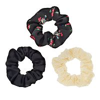 Mudd® 3-pk. Floral & Lace Scrunchies