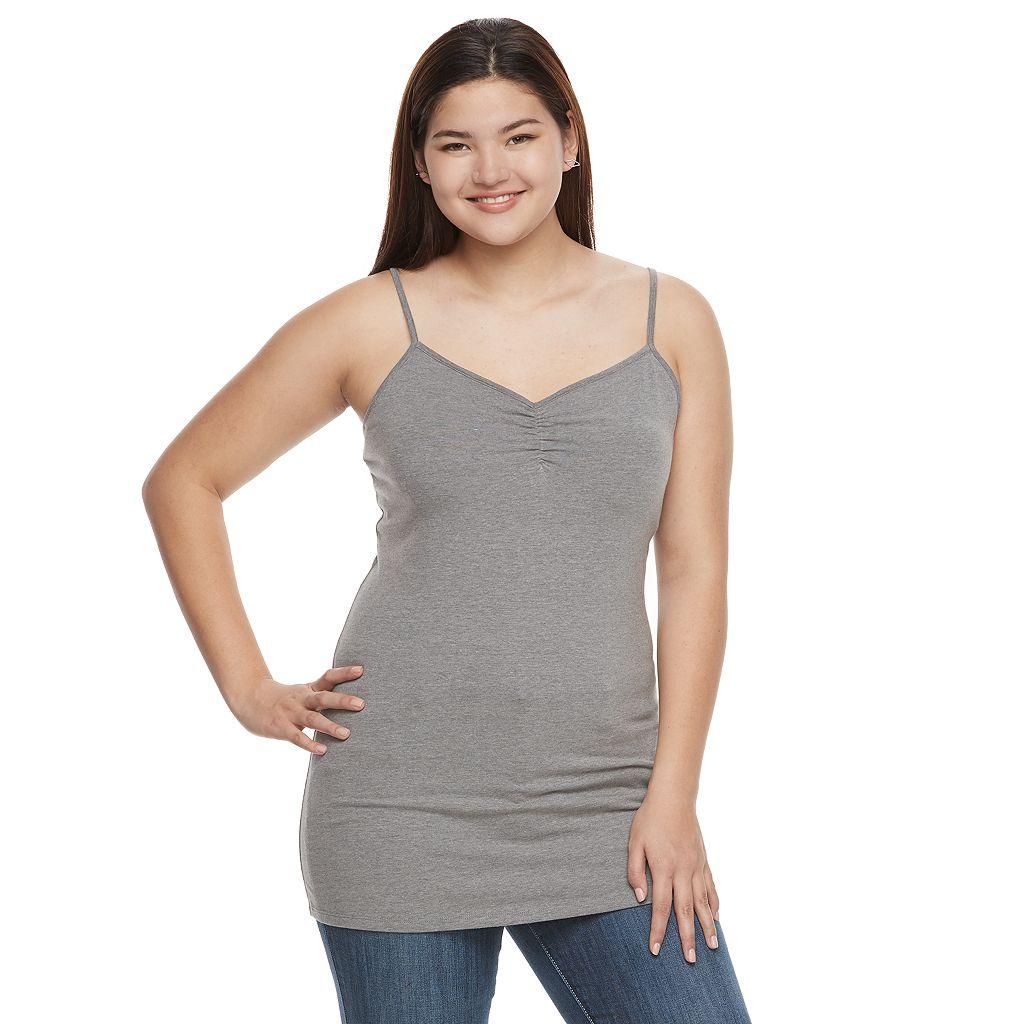 Juniors' Plus Size SO® Solid Tunic Camisole