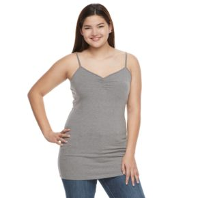 Juniors' Plus Size SO® Solid Tunic Camisole