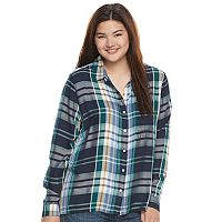 Juniors' Plus Size SO® High-Low Shirt