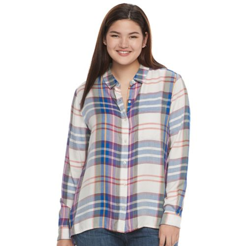 Juniors' Plus Size SO® High-Low Shirt