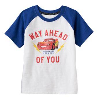 "Disney / Pixar Cars 3 Toddler Boy ""Way Ahead of You"" Raglan Tee by Jumping Beans®"