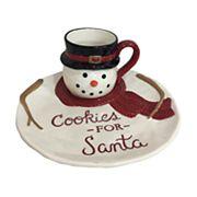 St. Nicholas Square® Yuletide 2 pc Snowman Cookies for Santa Set
