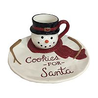 St. Nicholas Square® Yuletide 2 pc Snowman Cookies for Santa Set