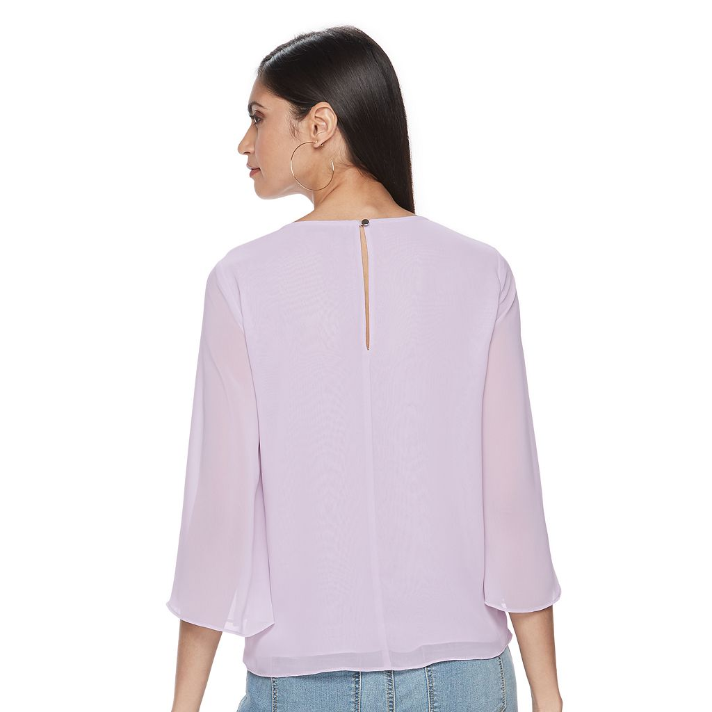 Women's Jennifer Lopez Chiffon Faux-Wrap Top