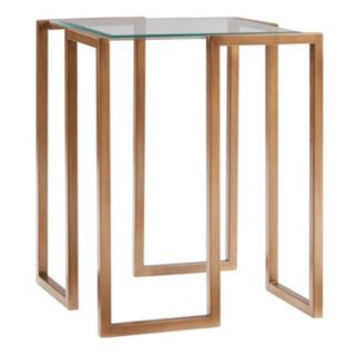 Madison Park Enzo Gold Finish End Table
