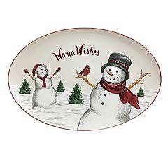 St. Nicholas Square® Yuletide Snowman Oval Platter