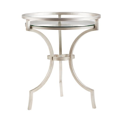 Madison Park Harold Silver Finish End Table