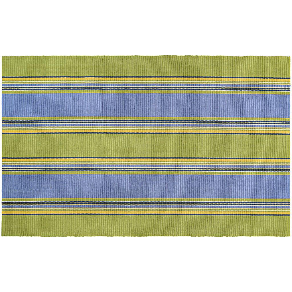 Couristan Bar Harbor Calypso Striped Reversible Cotton Rug