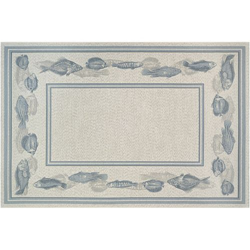 Couristan Dolce Corvina Framed Fish Indoor Outdoor Rug