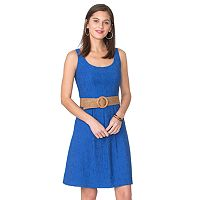 Women's Chaps Jacquard Fit & Flare Dress