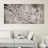 Artissimo Designs White Cherry Blossom Canvas Wall Art