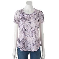 Women's Jennifer Lopez Ruched Mesh Top
