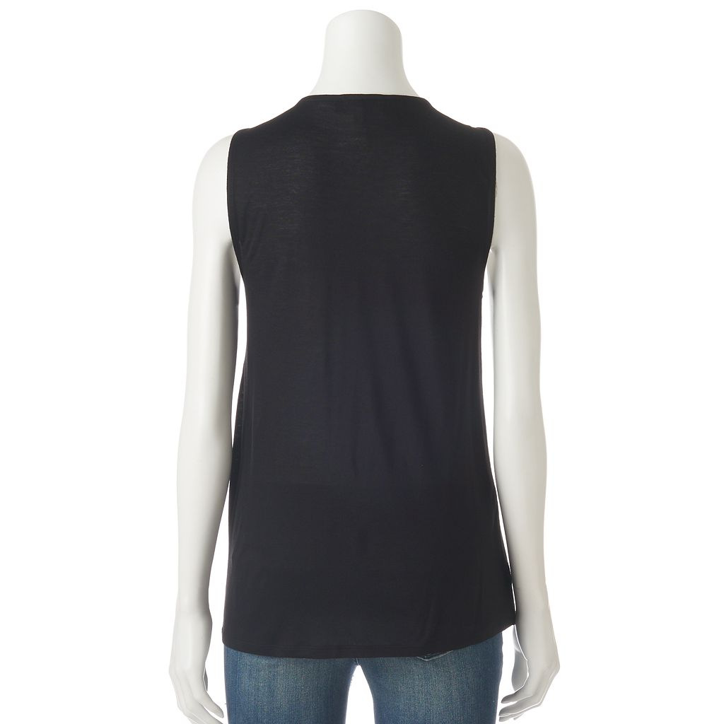 Women's Jennifer Lopez Lace-Up Crossover Tank