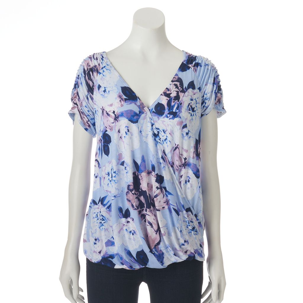 Women's Jennifer Lopez Ruched Crossover Top