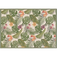 Couristan Dolce Flowering Fern Indoor Outdoor Rug