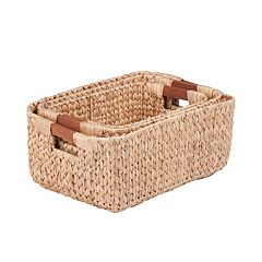 Honey-Can-Do 3 pc Rectangular Woven Nesting Basket Set