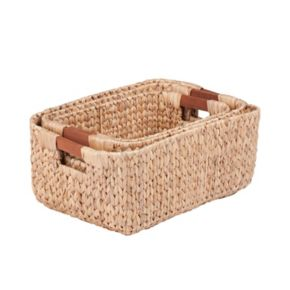 Honey-Can-Do 3-piece Rectangular Woven Nesting Basket Set
