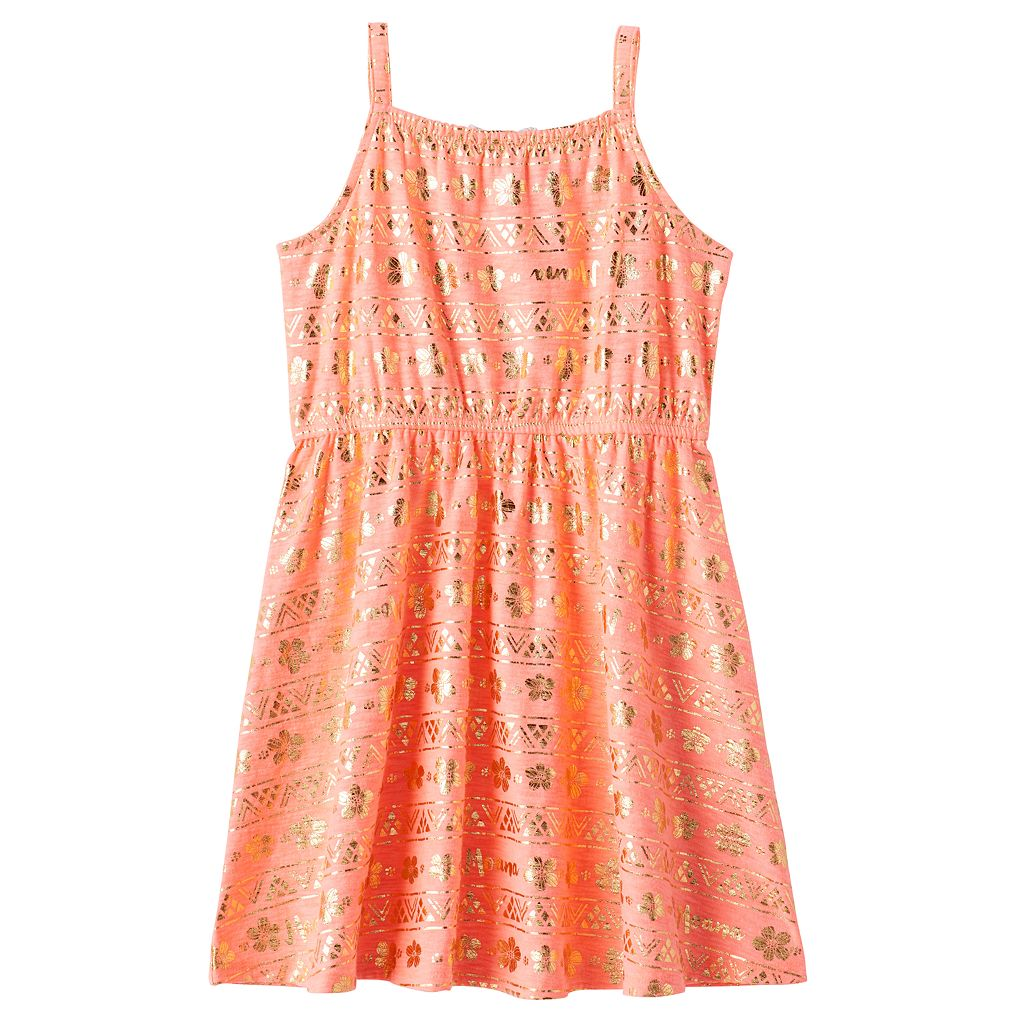 Disney's Moana Toddler Girl Keyhole Tie Foil Dress by Jumping Beans®