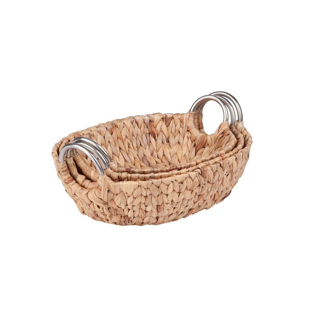 Honey-Can-Do 3-piece Oval Woven Nesting Basket Set