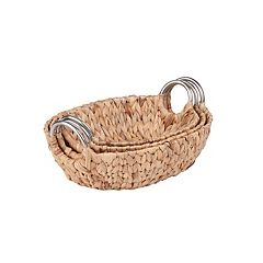 Honey-Can-Do 3 pc Oval Woven Nesting Basket Set