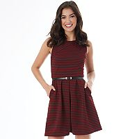 Juniors' IZ Byer Striped Fit & Flare Dress