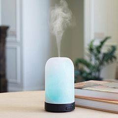 Click here to buy Airome by Candle Warmers Etc. Frosted Glass Ultra Sonic Essential Oil Diffuser.