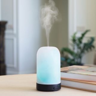 Airome by Candle Warmers Etc. Frosted Glass Ultra Sonic Essential Oil Diffuser