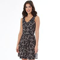 Juniors' IZ Byer Floral Ponte Dress