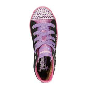 Skechers Twinkle Toes Shuffles Sparkle Glitz Girls' Light-Up Sneakers