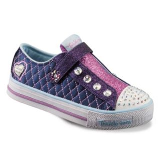 Skechers Twinkle Toes Shuffles Sparkly Jewels Girls' Light-Up Sneakers