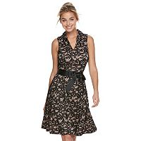 Women's Bethany Lace Print Fit & Flare Dress
