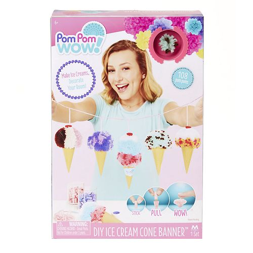 Pom Pom Wow DIY Ice Cream Cone Garland Set