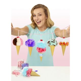 Pom Pom Wow DIY Ice Cream Cone Garland Set