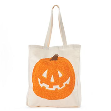 Tri-Coastal Design Jack-o'-Lantern Canvas Tote