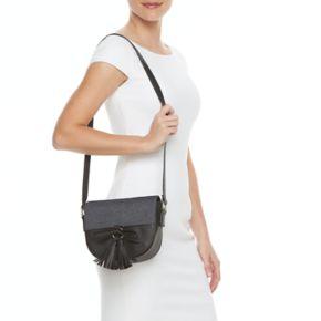 Olivia Miller Maliha Denim Saddle Crossbody Bag