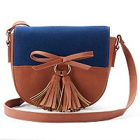 Olivia Miller Maliha Denim Saddle Crossbody Bag