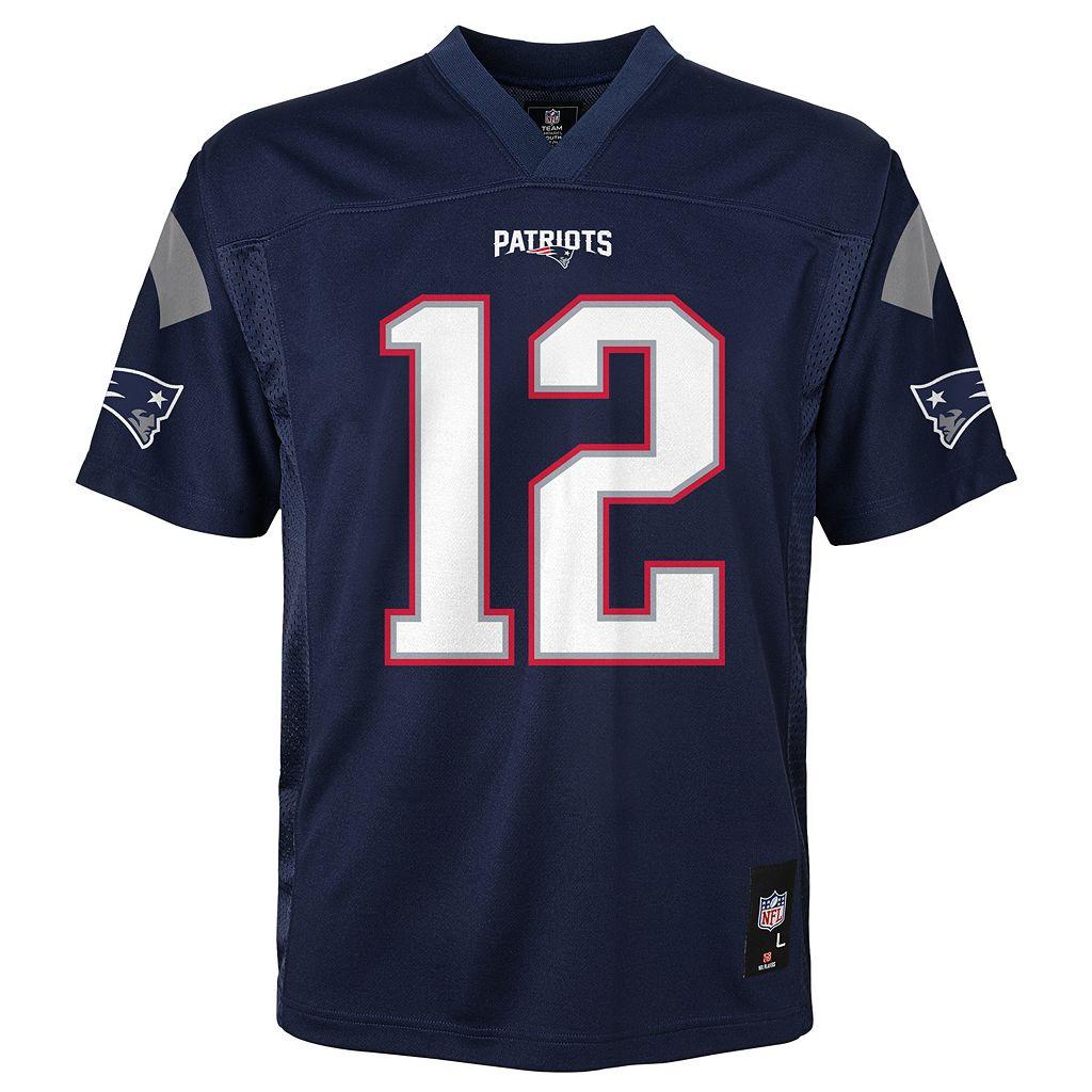 Boys 4-7 New EnglandPatriots Tom Brady Replica NFL Jersey