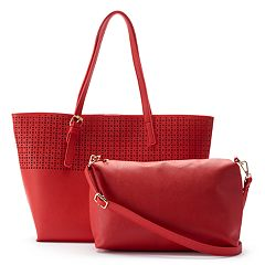 Olivia Miller Irena Perforated Tote with Crossbody Bag