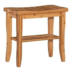 Linon Bracken Bamboo 18-in. Stool
