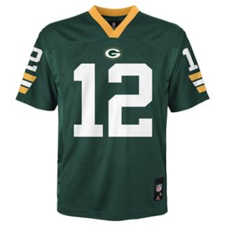 Boys 4-7 Green Bay Packers Aaron Rodgers Replica NFL Jersey