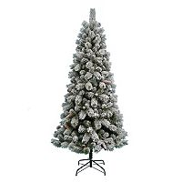 St. Nicholas Square® 7-ft. Pre-Lit Flocked Artificial Christmas Tree