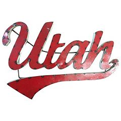 Utah Utes Metal Wall Décor