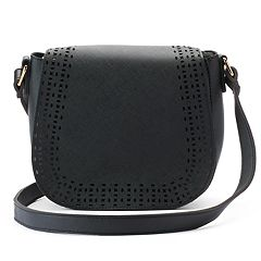 Olivia Miller Kaya Perforated Saddle Crossbody Bag